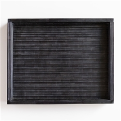 Ebony Tray with Black Ridges