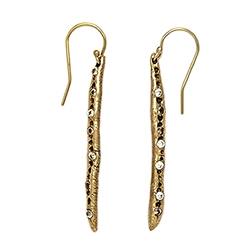 C Icicle Earrings