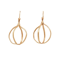 C D Globe Earrings