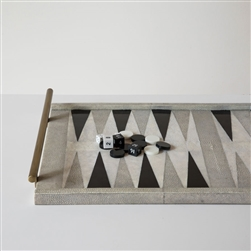 Shagreen Backgammon Game Tray