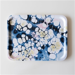 Marbled Serving Tray Ocean Sparkle