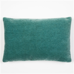 Mohair Tuxedo Pillow, Mermaid Blue