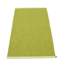 Pappelina plastic outdoor indoor floor mat runner olive lime
