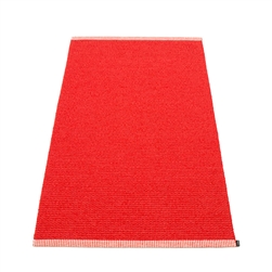 Pappelina waterproof woven plastic outdoor indoor floor mat runner coral red