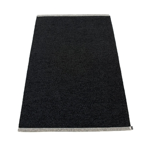 Pappelina waterproof woven plastic outdoor indoor floor mat runner black