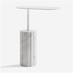 Column Table White