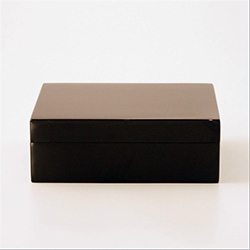 Lacquered Box Grey Black