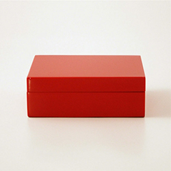 Lacquered Box Red