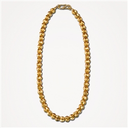 H Star Pod Gold Plated Necklace