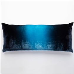 Velvet Ombre Large Boudoir Pillow, Midnight