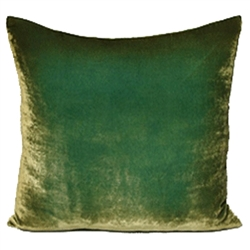 Velvet Ombre Pillow Grass