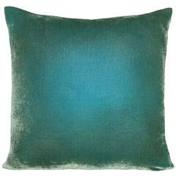 Velvet Ombre Pillow Aqua