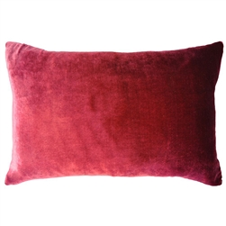 Velvet Ombre Lumbar Pillow Raspberry