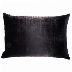 Velvet Ombre Lumbar Pillow Smoke