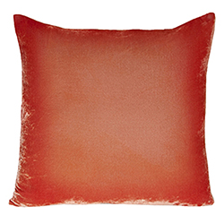 Velvet Ombre Pillow Coral