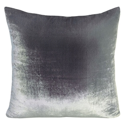 Velvet Ombre Pillow Silver Gray