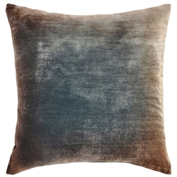 Velvet Ombre Pillow Gunmetal