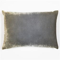 velvet pillow, velvet, silk, kevin o'brien, pillow, nickel, green, metallic