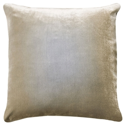 Velvet Ombre Pillow Nickel