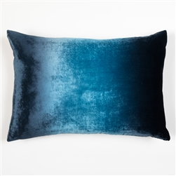 Velvet Ombre Lumbar Pillow Midnight