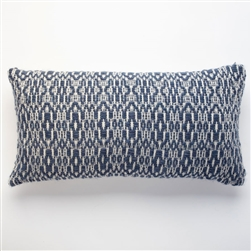 ST Overshot Navy Blue Pillow
