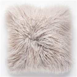 Tibetan Fur Pillow Light Gray Tipped