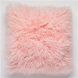 Tibetan Fur Pillow Pink