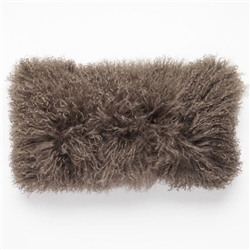 Tibetan Lumbar Fur Pillow Durango