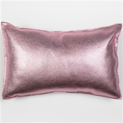 Zig Zag Pillow, Molly M, metallic, pink, rectangle, pillow, leather, zig zag, pattern, Molly M designs