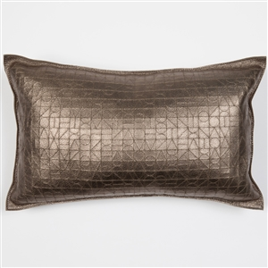 Module Pattern Pillow, Molly M, metallic, pewter, pillow, leather, rectangle, Molly M designs
