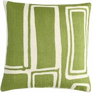 A4- Procession Pillow Spring Green/Cream