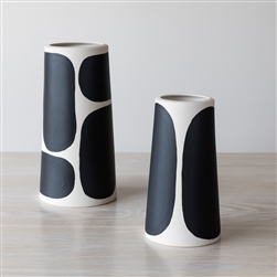 PILLAR VASES, COLOR BLOCK