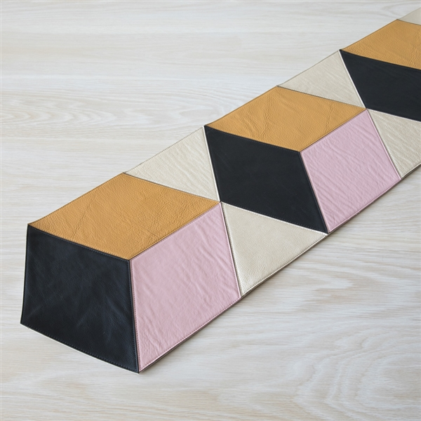 Merveilleux Leather Runner, Table Runner, Black, Mustard, Peach, Platinum, Leather,  Molly M Designs, Molly M, Entertaining, Table ...