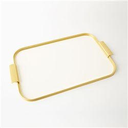 Aluminum Gold and Color Kaymet Serving Trays