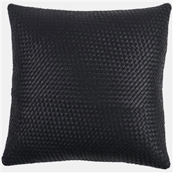 SD Nolita Black Leather Pillow