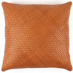 SD Nolita Cognac Leather Pillow