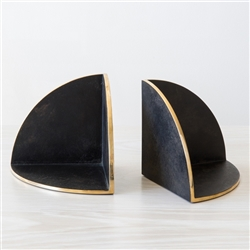 Black Brass Bookends