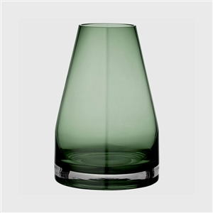 Handmade danish minimalist forest green glass vase