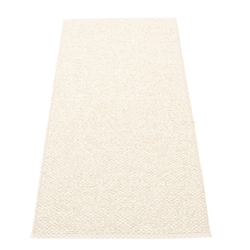 Pappelina plastic outdoor indoor floor mat runner champagne metallic