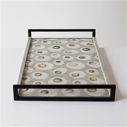 Shagreen Peacock Tray
