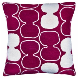 A1-Tabla Pillow Claret/Cream