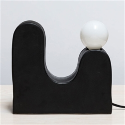 S Rolling Hills Table Lamp Black