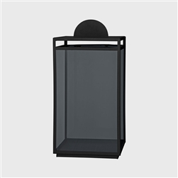 A minimalist stylish black iron and glass lantern with a contemporary feel which will go with any kind of decor. Use indoor or outdoors, the large black Turris standing lantern has a simple yet practical design.