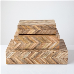 Wood Chevron Box