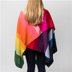 Baby Alpaca Rainbow Throw