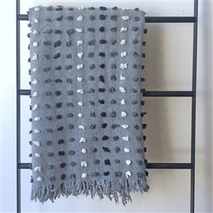 Bobble Throw Gray