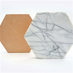 White Carerra Hexagon Trivet