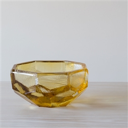Crystal Bowl Amber