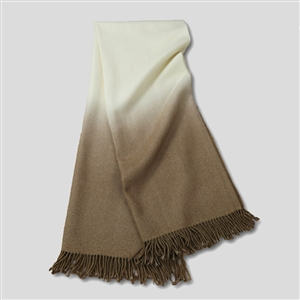 Dip-Dyed Throw Camel