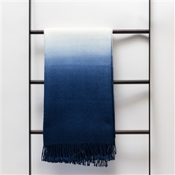 Dip-Dyed Throw Indigo